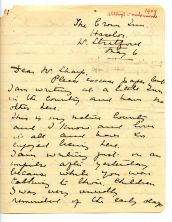 Mary Neal letter to Cecil Sharp 1909