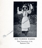 Signed portrait of Florrie Warren from the Espérance Club Book, Part I