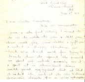 Letter from Florrie Warren to Emmeline Pethick-Lawrence