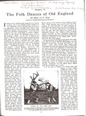Article by Mary 'The Folk Dances of Old Enlgand'