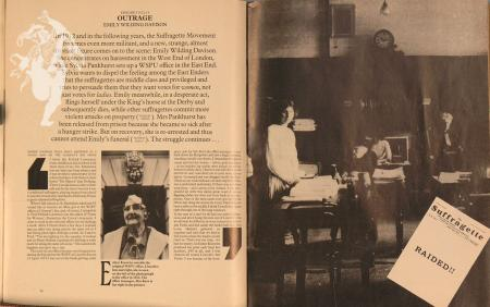 Esther Knowles, 'Shoulder to Shoulder', BBC magazine on the Women's Suffrage movement